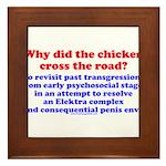 Chicken Elektra Framed Tile
