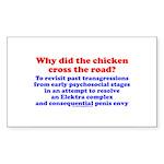 Chicken Elektra Rectangle Sticker