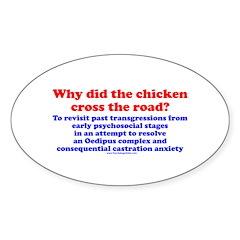 Chicken Oedipus Oval Sticker (10 pk)