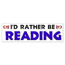 Blue I'd Rather Be Reading Bumper Bumper Sticker