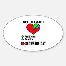 My Heart friends, family and Snowsh Sticker (Oval)