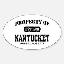 Property of Nantucket Oval Decal