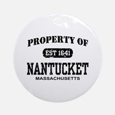 Property of Nantucket Ornament (Round)