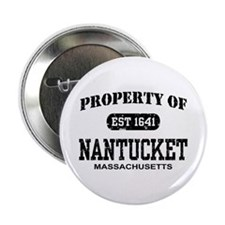 "Property of Nantucket 2.25"" Button"
