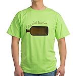 I Dig Old Bottles Green T-Shirt