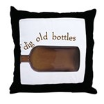 I Dig Old Bottles Throw Pillow