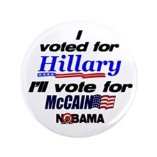 "I'll vote McCain 3.5"" Button (100 pack)"