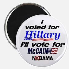 I'll vote McCain Magnet