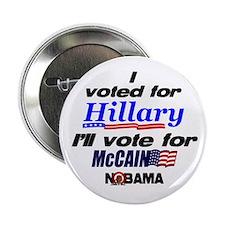 """I'll vote McCain 2.25"""" Button"""