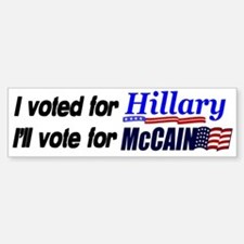 I'll vote McCain Bumper Bumper Stickers