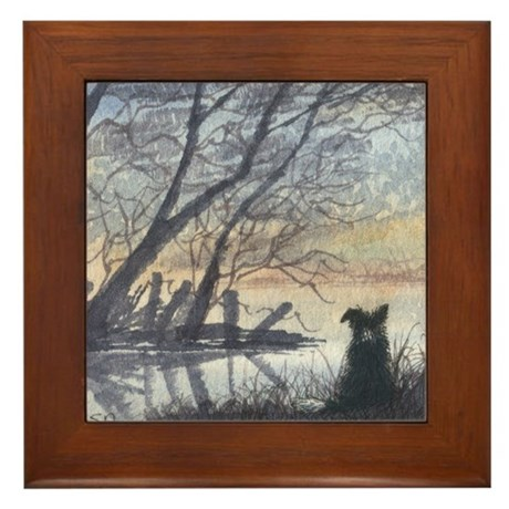 At the Lake Framed Tile