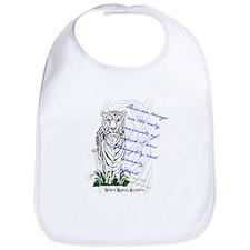 White Tiger Animal Quote Bib