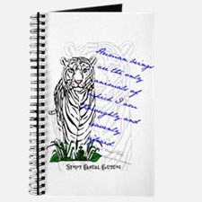 White Tiger Animal Quote Journal