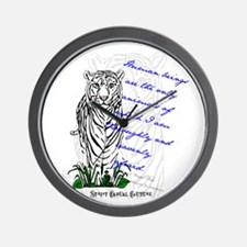 White Tiger Animal Quote Wall Clock