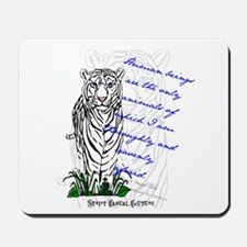 White Tiger Animal Quote Mousepad