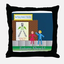 Garbage Man: The Movie Throw Pillow