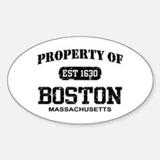 Property of Boston Oval Decal
