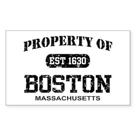 Property of Boston Rectangle Sticker