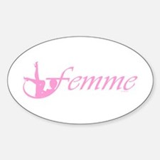 Femme 2p Oval Decal