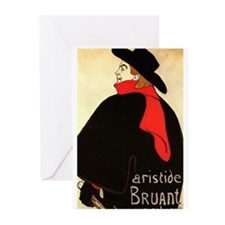 Aristide Bruant, #2 Greeting Cards (Pk of 10)