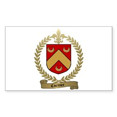CORMIER Family Crest Rectangle Decal