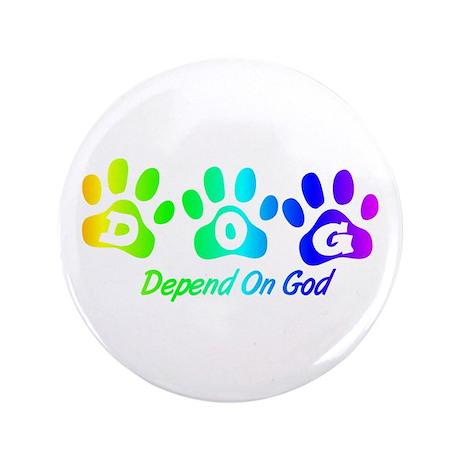 "Rainbow DOG 3.5"" Button"