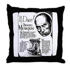 Benito Mussolini Poster Throw Pillow