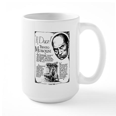 Benito Mussolini Poster Large Mug