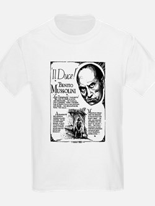 Benito Mussolini Poster T-Shirt