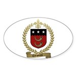 CORPORON Family Crest Oval Sticker