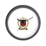 CORPORON Family Crest Wall Clock