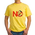 NO OBAMA Yellow T-Shirt