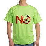 NO OBAMA Green T-Shirt