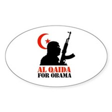 Al Qaida for Obama Oval Decal