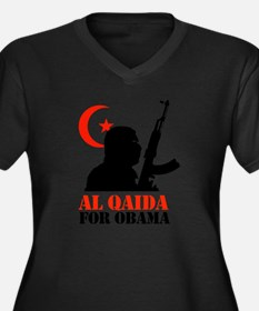 Al Qaida for Obama Women's Plus Size V-Neck Dark T