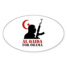 Al Qaida for Obama Oval Decal