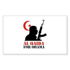 Al Qaida for Obama Rectangle Sticker 10 pk)