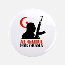 "Al Qaida for Obama 3.5"" Button"