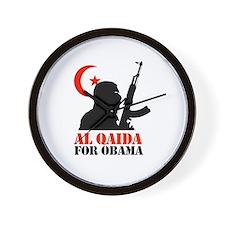 Al Qaida for Obama Wall Clock