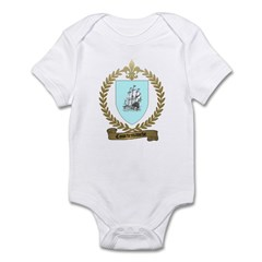 COURTEMANCHE Family Crest Infant Creeper