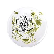 """Buddha Vine - Animals 3.5"""" Button"""