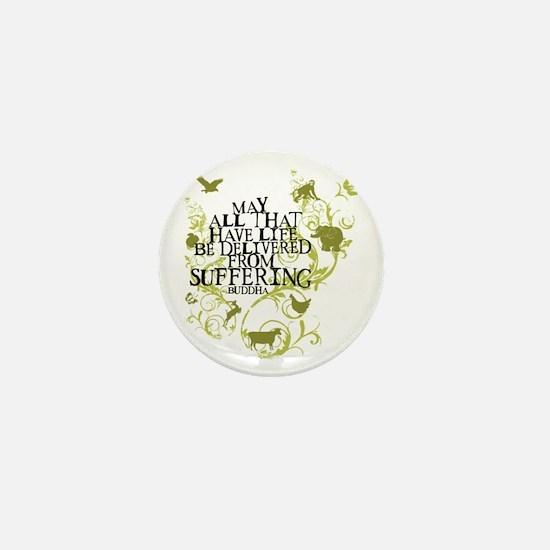 Buddha Vine - Animals Mini Button