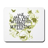 Animal rights Mouse Pads