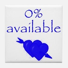 Romantic 0% Available Tile Coaster