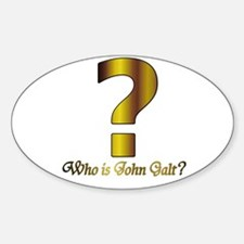 Who is John Galt Oval Decal