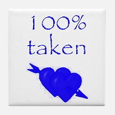 Romantic 100% Taken Tile Coaster