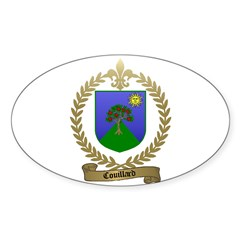 COUILLARD Family Crest Oval Decal