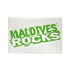 Maldives Rocks Rectangle Magnet
