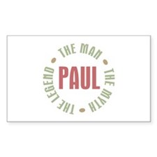Paul Man Myth Legend Rectangle Decal