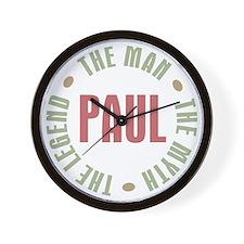Paul Man Myth Legend Wall Clock